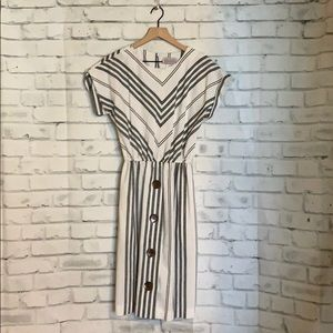 USA Petites Striped Dress